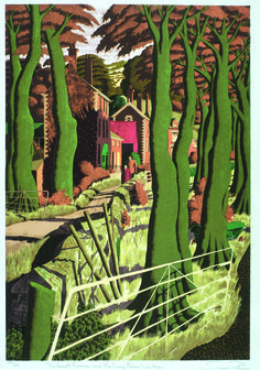 Buy art online- The Small Farmer and Large Farm Worker- signed limited edition silkscreen print by landscape artist Simon Palmer Gouache, Buy Art Online, Collaborative Art, Watercolor Artists, Silk Screen Printing, Pen And Paper, Landscape Paintings, Landscapes, Oeuvre D'art