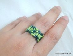 I find these little squares very cute and useful too   And guess what? I found another way to make use of the square component and turned them into a ring! Tutorial.
