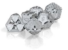 Dice Set by ceramicwombat on Shapeways. Custom metal work dice.