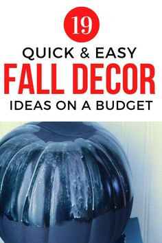 If you're short on time or cash check out these cheap ideas for how to decorate your home for fall on a budget. Perfect for decorating living room, entryway or front porch. #hometalk Pumpkin Display, Autumn Display, Old Ties, Faux Pumpkins, Blue And Copper, Diy Home Decor Projects, Fall Diy, Decorating Your Home, Pumpkin Decorating