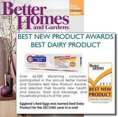Better Homes & Gardens, Best New Product Award 2011-2012 #egglandsbest