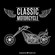 Free vector Classic motorcycle #8205