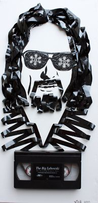 """""""The Big Lebowski"""" cassette tape art by Erika Iris Simmons The Big Lebowski, El Gran Lebowski, Cassette Tape Art, Cassette Vhs, Vhs Tapes, Casette Tapes, Dudeism, Ghost In The Machine, The Best Films"""