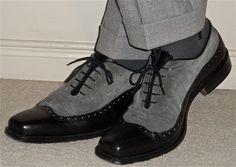 Hilton grey flannel suit, Ron White leather & Suede shoes…