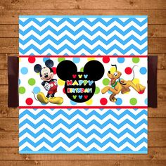 Mickey Mouse Candy Wrappers Dots Chevron  by NineLivesNotEnough