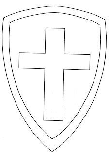 Blank Shield-- kids can make their own shield for a Sunday