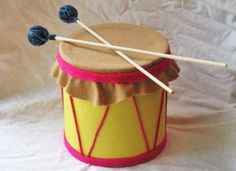 Coffee can drum...I'd add stretchy leather or thick rubber to make it more usable though.