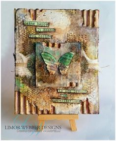 Being Happy Mixed Media Canvas | Limor Webber Designs