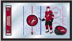 [[start tab]] Description The perfect way to show your Arizona Coyotes pride, our hockey rink mirror displays your team's logo and symbols with a style that fits any setting. With it's simple but eleg
