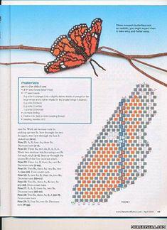 Мотылек из бисера схема - Животные - Схемы плетения бисером - Сокровищница статей - Плетение бисером украшений, деревьев и цветов, схемы мк