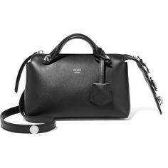 Fendi By The Way mini appliquéd leather shoulder bag (111.180 RUB) ❤ liked on Polyvore featuring bags, handbags, shoulder bags, leather shoulder bag, leather purses, crossbody purses, mini crossbody purse and genuine leather handbags