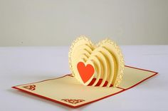 greenfox-wedding-cards-heart-shaped-arch #3dcards #cards #heartshaped #Love www.3dcards.com.au
