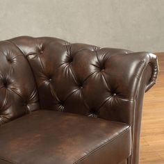Shop Knightsbridge Tufted Scroll Arm Chesterfield Sofa by iNSPIRE Q Artisan - On Sale - Overstock - 9497906 - Brown Bonded Leather Bed Furniture, Furniture Design, Tufted Leather Sofa, Deep Sofa, Sofa Dimension, Chesterfield Sofa, Bonded Leather, Grey Cushions, Spacious Living Room