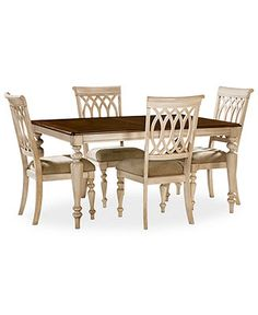 Dovewood Dining Room Furniture 5 Piece Set Table And 4 Side