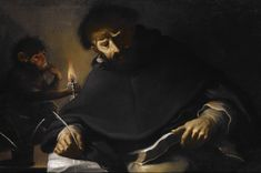 """Pietro della Vecchia (Italian, 1603-1678), """"St. Dominic and the Devil,"""" about 1630; Indianapolis Museum of Art, James E. Roberts Fund, 57.133"""