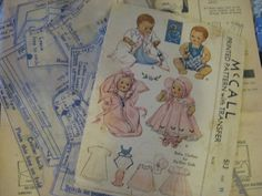 ORIGINAL Doll Clothes PATTERN 513 for 11 in DyDee Little Girl Doll by Effanbee