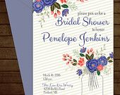 Printable Floral Bridal Invitation-Print Yourself-Digital Invite