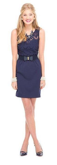 Lilly Pulitzer Fall '13- Rhea Dress in True Navy