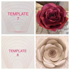 405 Best Paper Flower Template Images Fabric Flowers Giant Paper