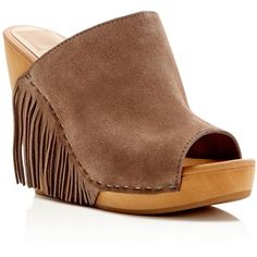08af47094 Shop for Cai Suede Fringe Wedge Slide Sandals by Dolce Vita at ShopStyle.