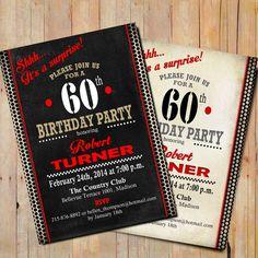 Free printable 30th birthday party invitation templates party surprise 60th birthday invitation any age black white red adult bday digital printable invitation customized filmwisefo