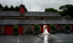 Even in the rain Larchfield gives a romantic backdrop!