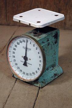 Turquoise Farmhouse Kitchen Scale