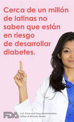 Cerca de un millón de latinas no saben que están en riesgo de desarrollar diabetes.