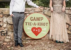 A Colorful Summer Camp Themed Wedding // photo by Miranda Marrs Photography, see… 2019 Camping Wedding Theme, Campground Wedding, Woodsy Wedding, Camp Wedding, Camping Theme, Wedding Weekend, Wedding In The Woods, Trendy Wedding, Unique Weddings