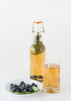 Blueberry Basil Kombucha recipe.