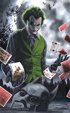 Joker painting.