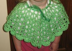 A pretty poncho for a girl. Pattern included.