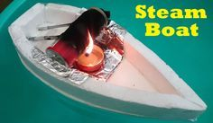 DIY : Learn how to make a simple Pop Pop boat using bottle, Its very simple homemade steam powered boat. Facebook: https://www.facebook.com/AwesomeCreativeId...