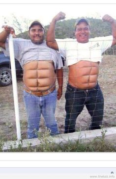 fence six pack - red neck style Now I know how I get mine in shape ;)