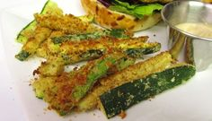 Baked Zucchini Fries with Balsamic Aioli