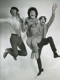 Mike Nesmith, Micky Dolenz and Davy Jones