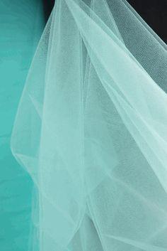 """Fine Tulle Bolt Aqua Blue / Tiffany Blue 54"""" wide 40 yards"""