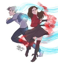 0samwhich:  Guess what I saw this weekend…twice. Fan art if the Maximoff Twins fighting together.