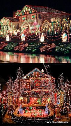 Awesome Christmas Lights On House | Awesome Christmas Lights | Christmas  Lights | Pinterest | Christmas Lights, Xmas Lights And Lights