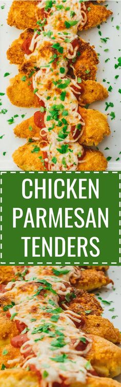 These healthy chicken parmesan tenders are easy to make using low carb ingredients. baked / recipe / easy / healthy / best / skinny / oven / sides / sauce / quick / classic / homemade / simple / meal / italian / how to make / skillet / fried / crispy / for two / without breadcrumbs / stove top / crusted / one pan / breaded / unbreaded / food network / for a crowd / keto / diet / atkins / meals / recipes / easy / dinner / lunch / foods / healthy / gluten free #chicken #keto #Lowcarb