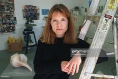 Portrait of sculptor Jennifer Pastor in her El Segundo studio. Objects in background on the floor will be part of her show at MOCA. Photo taken Moca, Objects, Floor, Portrait, Studio, Image, Pastor, Pavement, Headshot Photography