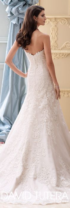The David Tutera for Mon Cheri Spring 2015 Wedding Dress Collection - Style No. 115237 Justice  davidtuteraformoncheri.com  #weddingdresses