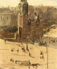 A View of the Muntplein by Isaac Israëls Paintings I Love, Painting Styles, Sense Of Life, Dutch Painters, The Hague, Dutch Artists, Fashion Painting, Vintage Artwork, Pastels