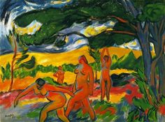 31 December we celebrate the birth of Max Pechstein, born 1881. Pechstein left the studio for the last time in 1955.
