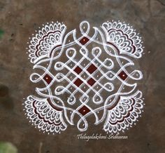 Rangoli and Art Works: CHIKKU KOLAM WITH FREEHAND EXTENSIONS