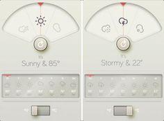Weather Dial iPhone App by David Elgena. UI inspired by Dieter Rams's legendary BRAUN designs.