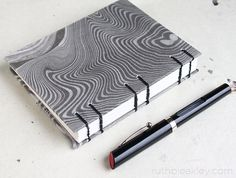 Ruth Bleakley makes beautiful handmade books and on her blog there are lots of lots of useful tutorials
