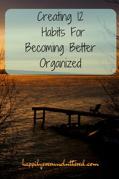 Become better organized this year by creating these everyday habits one month at a time. My favorites are # 1 & 8.