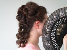 curly late victorian hair