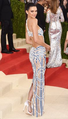 Kendall Jenner's cutout-back Atelier Versace dress - click through for more of the best dress backs at the Met Gala